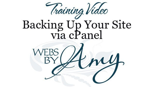 Backing Up Your Site via cPanel