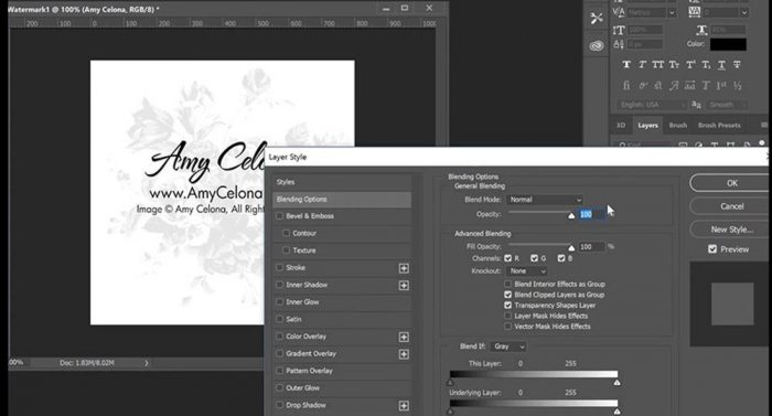 Watermark Video Tutorial Photoshop CC