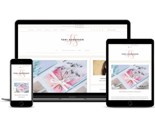 Toni Sanerson – Sample Genesis Blog Style – Tiled Blog