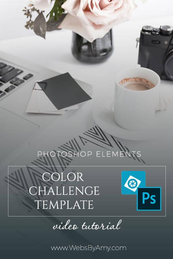 Photoshop Elements-Free Template Color Challenge