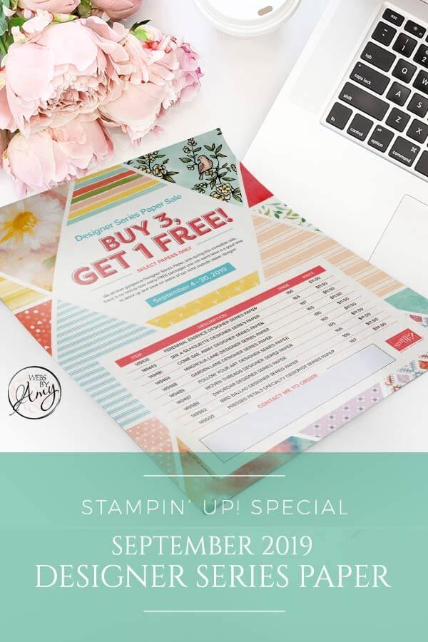 September Designer Series Paper Special