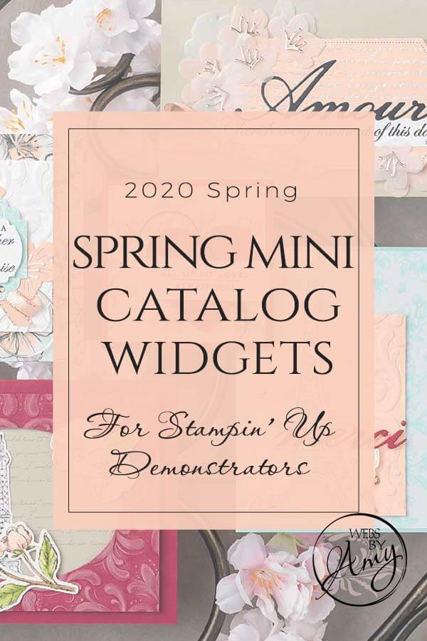 2020 Stampin' Up! Spring Mini Catalog Widgets