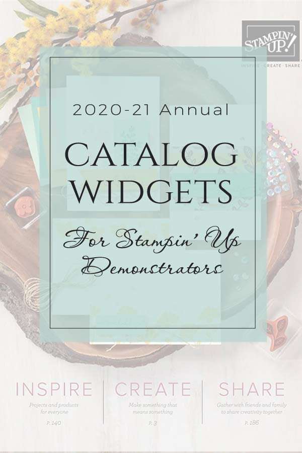 2020-21 Stampin' Up! Catalog Widgets