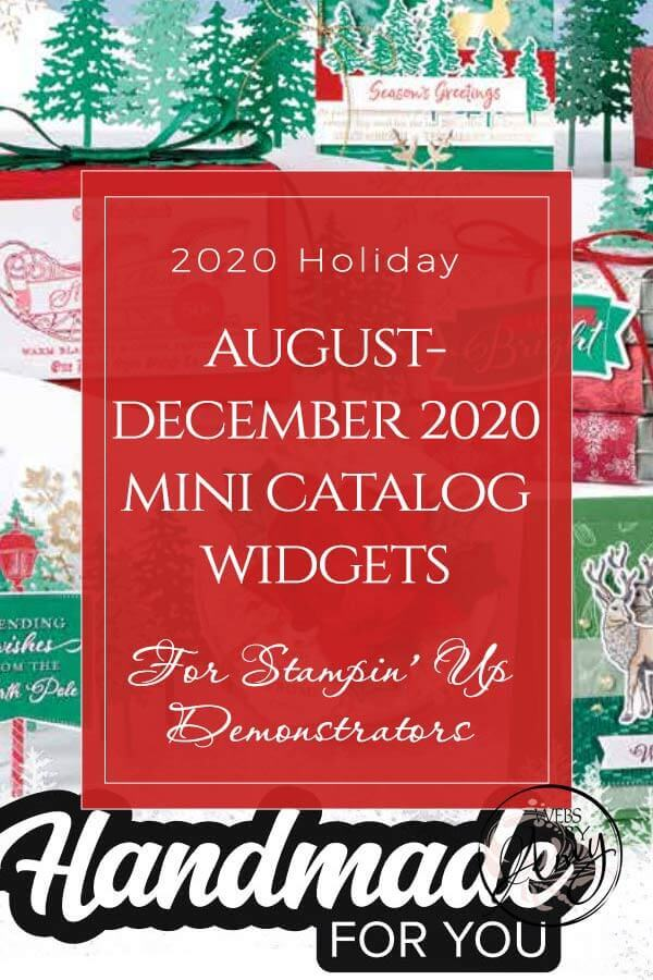 2020 Holiday Mini Catalog Widgets for Stampin' Up! Demos